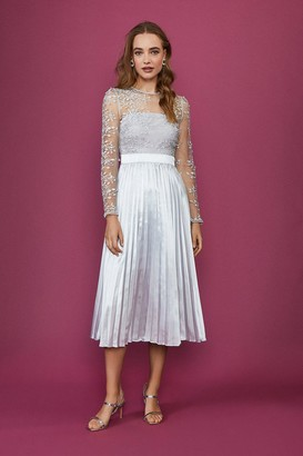 Coast Lace Tiered Midi Dress