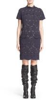 Lanvin Short Sleeve Lace Sheath Dress