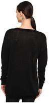 Tibi Lurex Merino Intarsia Easy Pullover Sweater