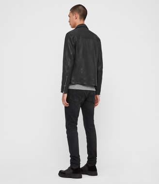 AllSaints Hearn Leather Biker Jacket