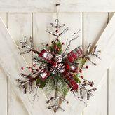 Pier 1 Imports Rattan Snowflake Door Decor & Wreath