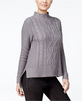 Kensie High-Low Cable-Knit Sweater, A Macy's Exclusive Style
