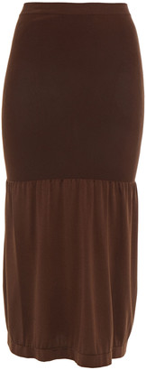 Wolford Fatal Lax Convertible Gathered Stretch-jersey Midi Skirt
