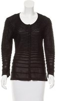 Yigal Azrouel Ribbed Button-Up Cardigan w/ Tags