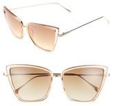 Leith Women's 55Mm Cat Eye Sunglasses - Nude