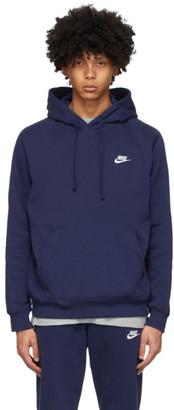Nike Navy Club Pullover Hoodie