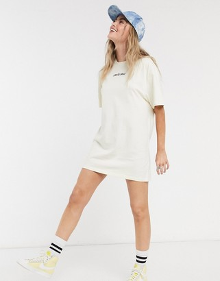 Santa Cruz Ringed Dot t-shirt dress in ecru