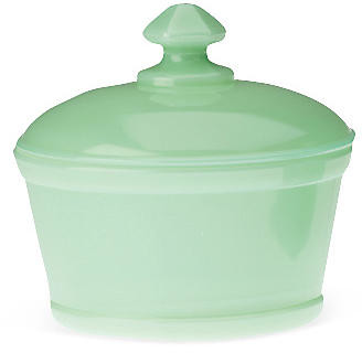 Mosser Glass Covered Butter Tub - Jadeite