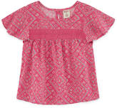 Arizona Round Neck Short Sleeve Blouse - Preschool Girls
