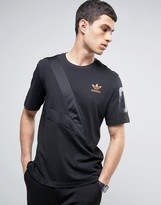Adidas Originals Panelled T-shirt With Sleeve Number