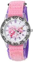 Disney Girl's 'Palace Pet' Quartz Plastic and Nylon Watch, Color:Pink (Model: W002837)