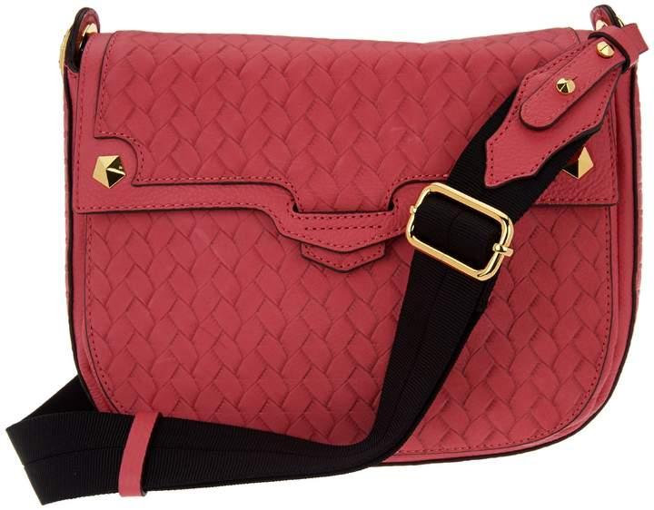 Oryany Embossed Leather Saddle Bag- Gaby