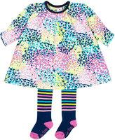 Le Top Confetti Print Dress & Tights