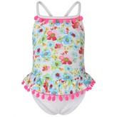 Pate De Sable Pate De SableWhite Floral Print Swimsuit
