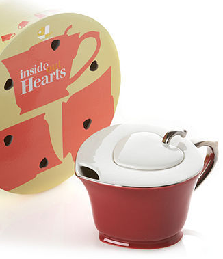 Classic Coffee & Tea Classic Coffee & Tea by Yedi Drinkware, Cranberry Inside Out Heart Teapot