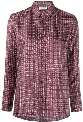 Sandro Thia geometric-print shirt