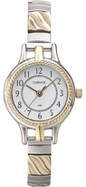 Timex Carriage by Women's Demi Watch, Two-Tone Stainless Steel Expansion Band