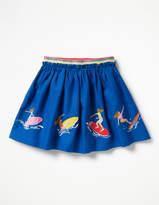 Boden Fun Applique Skirt