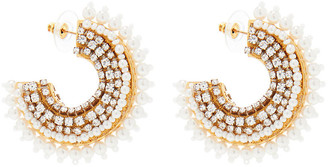 Mignonne Gavigan Pearl Fiona Mini Hoop Earrings - White