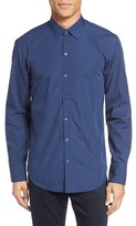 Zachary Prell Men's Maurizio Trim Fit Print Sport Shirt