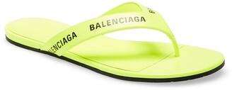 Balenciaga Logo Flip Flop