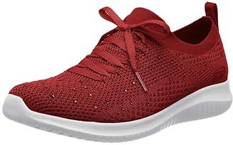 Skechers Ultra Flex (Black) Women's Lace up casual Shoes