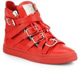 Giuseppe Zanotti Leather Buckle High-Top Sneakers