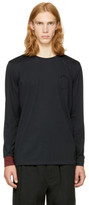 3.1 Phillip Lim Black Long Sleeve Double T-shirt