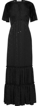 Diane von Furstenberg Josefine Wrap-effect Fil Coupe Jacquard Gown