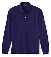 Classic Men's Tall Long Sleeve Supima Pocket Polo Shirt-Rich Red