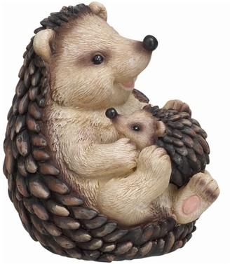 Transpac Resin 6 in. Brown Spring Hedgehog Family Figurine