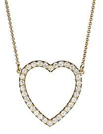 Jennifer Meyer Women's Diamond Large Open Heart Necklace