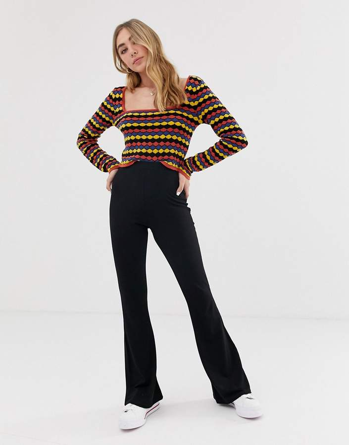 296d99886f Black Flared Trousers Petite - ShopStyle UK