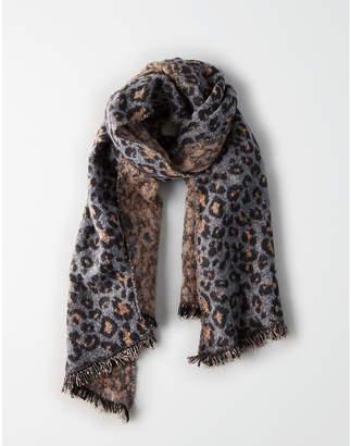 American Eagle Leopard Pattern Blanket Scarf