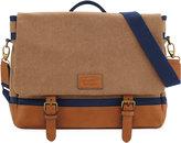 Original Penguin Canvas Flap Messenger Bag, Rubber