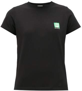 Balenciaga Green Logo-print Cotton T-shirt - Womens - Black