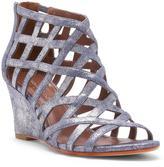 Donald J Pliner Women's JORDAN - Tumbled Metallic Brush Off Leather Wedge Sandal