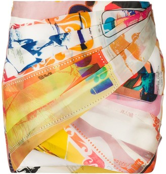 Zimmermann Brightside wrap mini skirt
