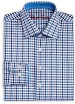Robert Graham Boys' Blue Multi-Check Dress Shirt