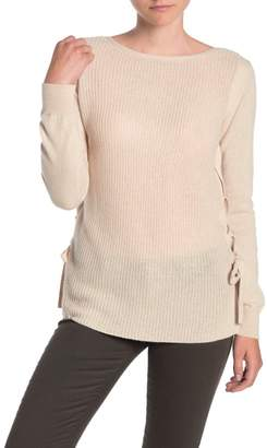 Sofia Cashmere Lace-Up Side Cashmere Sweater