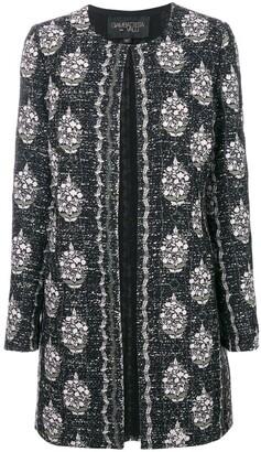 Giambattista Valli Embroidered Open Front Coat