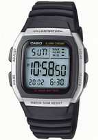 Casio Mens Square Black Resin Strap Digital Sport Watch W96H-1AVOS
