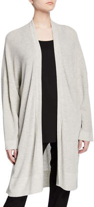 Eileen Fisher Petite Organic Cotton/Silk Long Cardigan