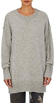 R 13 Women's Oversized Crewneck Sweater - Heather Grey