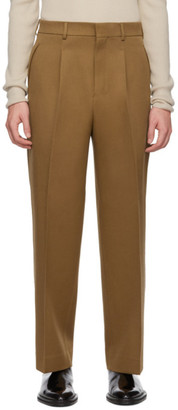 Ami Alexandre Mattiussi Tan Textured Wool Trousers