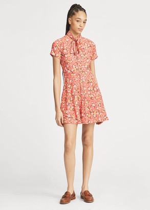 Ralph Lauren Necktie Fit-and-Flare Dress