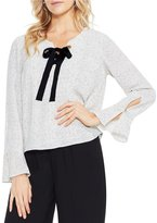 Vince Camuto Elegant Speckles Lace Up Blouse