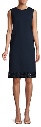 Lafayette 148 New York Morganna Embellished Hem Sheath