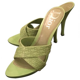 Christian Dior Green Rubber Mules & Clogs