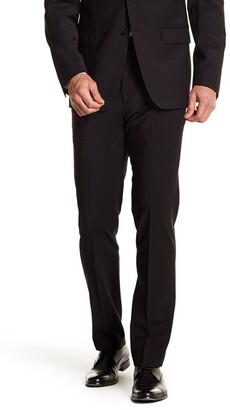 """Calvin Klein Solid Black Wool Suit Separate Pants - 30-34"""" Inseam"""